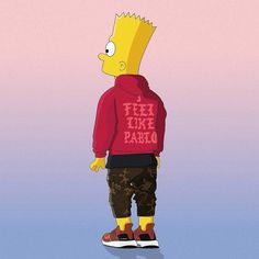 #hypeAF: we feel like Bart. Illustration: @machonis by hypebeast
