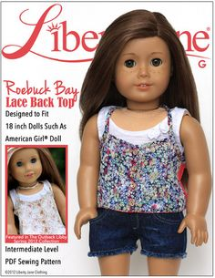 "Newest from LJC! Roebuck Bay Lace Back Top 18"" Doll Clothes"