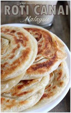 Roti canai crepe malaisienne