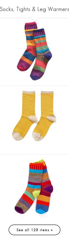 """""""Socks, Tights & Leg Warmers"""" by maggie-johnston ❤ liked on Polyvore featuring intimates, hosiery, socks, accessories, socks/tights, fillers, yellow, crew socks, yellow crew socks and hansel from basel"""