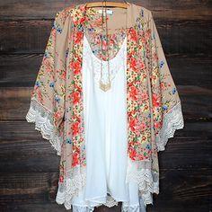 Boho Lace Floral Printed Kimono Cardigan - $18.99. https://www.bellechic.com/deals/e3d0851e2acb/boho-lace-floral-printed-kimono-cardigan