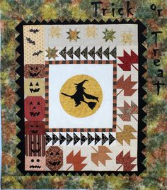 """Season of the Witch, 47 x 53"""", by Thimblecreek.  2015 BOM at Common Threads Quilting."""