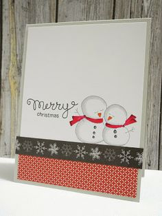 Adorable snow couple paired with a the Merry Christmas sentiment from our Holiday Wishes set (Newton's Nook Designs)!