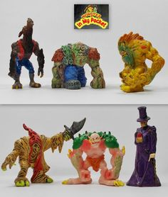 Monster In My Pocket - 2nd Gen 2006 - The Humanoids - Complete set of 6 figures