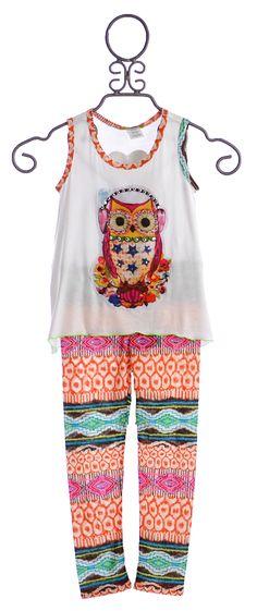Little Mass Owl Tunic with Capri Legging $68.00