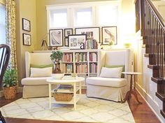 cozy home library area from Ashli at Mini Manor