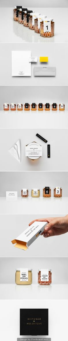 I'm in love with this Anagrama honey packaging and branding curated by Packaging Diva PD