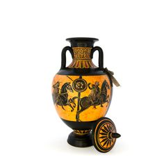 Panathenaic amphora - dadart Greek Pottery, Black Figure, Mythical Creatures, Period, Vase, Magical Creatures, Mythological Creatures, Vases, Jars