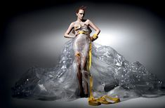 If It's Hip, It's Here (Archives): DHL Delivers Haute Couture. Fashions Made Of Shipping & Packaging Supplies by Michael Michalsky.