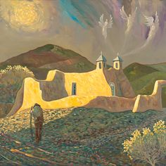 """Ranchos Angels"" Ed Sandoval - Blue Rain Gallery / Santa Fe New Mexico"