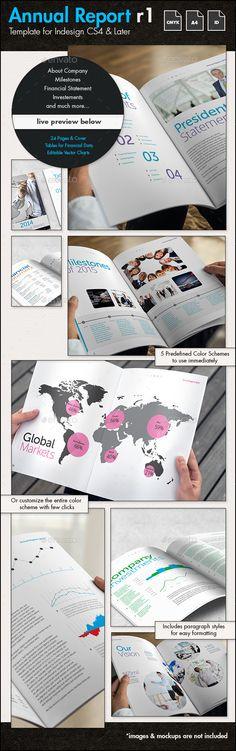 Annual Report r1 Template - A4 Portrait