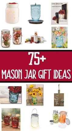 63 Mason Jar Gift Ideas Shopping for someone who adores mason jars? This holiday gift guide has OVER 75 amazing mason jar gift ideas hand picked. Crafts For Teens To Make, Crafts To Sell, Diy And Crafts, Quick Crafts, Recycled Crafts, Summer Crafts, Mason Jar Gifts, Mason Jar Diy, Diy Jars