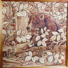 Bear in the woods. Eco friendly--- It is 100% natural product.