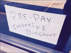 D-I-Y Small Business Pre-Pay Discount