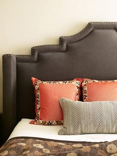 Massucco Warner Miller • Residential • West Hollywood Flat  headboard with nailheads