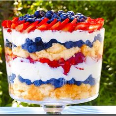Patriotic triple berry...yumm!!!