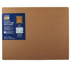 "This cork bulletin board adds a professional touch to any room. The unframed, fine grain co...  16""x20"""