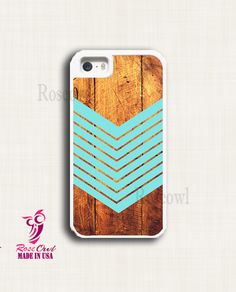 Iphone 5 case iphone 5s case Arrow Teal Wood Iphone by Roseowll