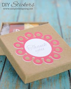 DIY Custom Stickers | create your own custom stickers with the print and cut feature and your Silhouette! by Simply Designing