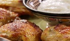 Get Roasted Curry Chicken Thighs with Yogurt Cumin Sauce Recipe from Food Network Food Network Recipes, Cooking Recipes, Curry Paste, Gluten Free Chicken, Savoury Dishes, Chicken Thighs, Sauce Recipes, Roast, Breakfast