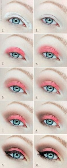 Eye makeup for blue eyes/Wonder how this would look with green eyes?