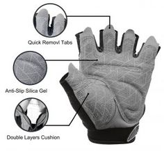 Tourdarson Weight Lifting Gym Gloves Microfiber & Anti-Slip Silica Gel Grip Padded Workout Gloves for Weightlifting, Cross Training, Gym, Fitness, Bodybuilding Men & Women Gym Gloves, Workout Gloves, Best Weight Lifting Gloves, Gym Accessories, Best Gym, Silica Gel, Keep Fit, Cross Training, Weight Training