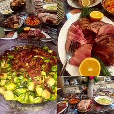 Holiday Party for 40 Guests- Glazed Ham, Brussels Spouts w/ Bacon, Mashed Potatoes