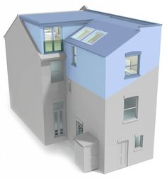 Pergola For Car Parking Loft Conversion Victorian Semi, Attic Conversion Plans, Loft Conversion Extension, Dormer Loft Conversion, House Extension Plans, Loft Conversions, Roof Extension, Extension Ideas, Bungalow Extensions