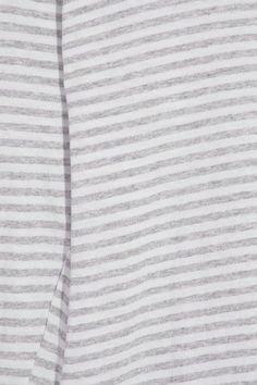 Bassike - Asymmetric Striped Organic Cotton-jersey Top - Light gray