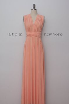 Peach Floor Length Gown Long Maxi Infinity Dress par AtomAttire