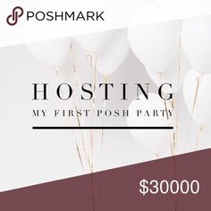 TODAY! TAG me in your BEST IN BAG listing for a HP Hi ladies! I am super excited to be hosting my first ever POSH PARTY! AUGUST 28, 2016 🎉 12:00 PM PST (3:00 PM EST) Looking for Posh compliant closets and newbies for host picks! Pre-party sale 20% off 2+ Bundle! Other