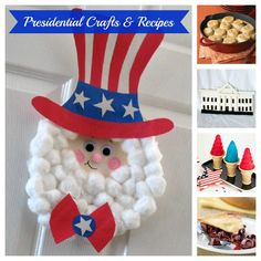 Presidential Crafts & Recipes - perfect for teaching your kids about President's Day!