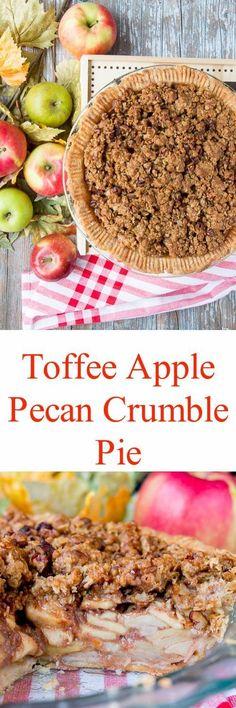 Embrace apple season with this sweet and crunchy crumble-topped apple pie. #applecrumblepie #applepie #applecrumbpie #deepdishapplepie #thanksgivingdesserts