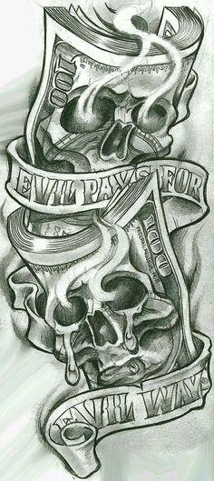 Skull Tattoos for Men Shoulder . Skull Tattoos for Men Shoulder . Gangster Tattoos, Dope Tattoos, Evil Tattoos, Chicano Art Tattoos, Skull Tattoos, Chicano Tattoos Gangsters, Evil Skull Tattoo, Best Forearm Tattoos, Gangster Drawings