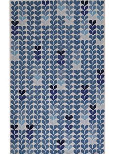 This Hearts Blue Collection rug (6024) is manufactured by Capel. The Droplets style is a quality wool, contemporary rug design from Kevin O'Brien and Capel Rugs.