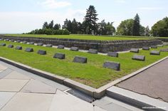 Slavin is a memorial monument and military cemetery of almost 7 000 Soviet soldiers who fell during the World War II while liberating the city in April 1945 Bus Number, Military Cemetery, Romantic Times, Bratislava, Green Trees, Great View, Paths, Sidewalk, Castle