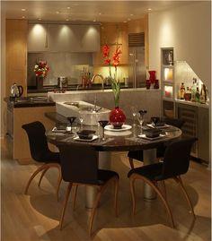 Cozy Contemporary Kitchen by Elina Katsioula-Beall on HomePortfolio