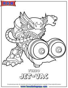 skylander giant coloring pages | video game coloring pages ... - Skylanders Coloring Pages Jet Vac