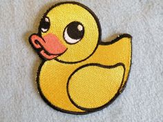 Rubber Duckey Iron on Patch. $13.00, via Etsy.