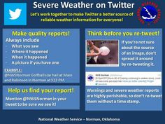 How to Tweet Responsibly in Severe Weather