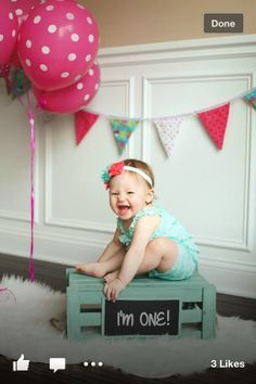 1st birthday photo... because its going to be all about Lilee!!!
