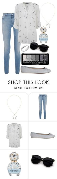 """""""Casual blue day look"""" by meta009 ❤ liked on Polyvore featuring Rosa de la Cruz, Givenchy, Mint Velvet, Marc Jacobs and Blue Nile"""