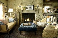 cottage living room for the movie - 'The Holiday' - by designer Nancy Meyers
