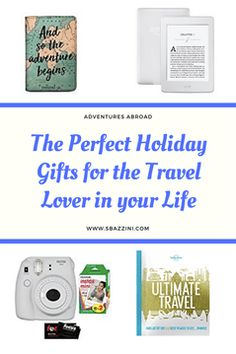 We all know that finding the perfect gift can sometimes be tedious. So I decided to create the perfect Gift Guide for the traveler in your life (or for yourself! Below are a few of my wish-lish items this year and a few things that I have and love. Travel Items, Travel Gifts, Travel Gadgets, Adventures Abroad, Original Travel, Blog Love, Gadget Gifts, Travel And Tourism, Travel Abroad