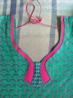 Blouse Back Neck Designs, Chudithar Neck Designs, Chudidhar Designs, Kids Blouse Designs, Neck Designs For Suits, Neckline Designs, Salwar Designs, Salwar Neck Patterns, Sleeves Designs For Dresses