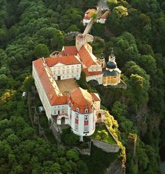 Vranov nad Dyji, the biggest rock castle in Czech Republic.