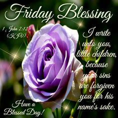 Friday Blessing. 1 John 2.12.-Have a Blessed Day.