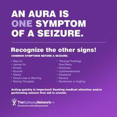 An Aura is ONE symptom is a Seizure. #Epilepsy #epileptic #Epilepsyawareness