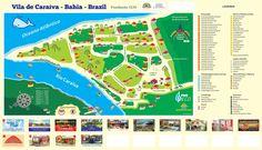 mapa do refugio de Caraíva - Porto Seguro - Bahia