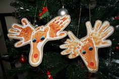 Hand and footprint Reindeer for Christmas